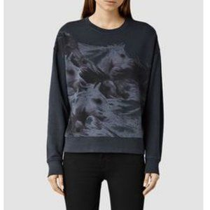 All Saints Equidae Ita Horse Print Sweatshirt